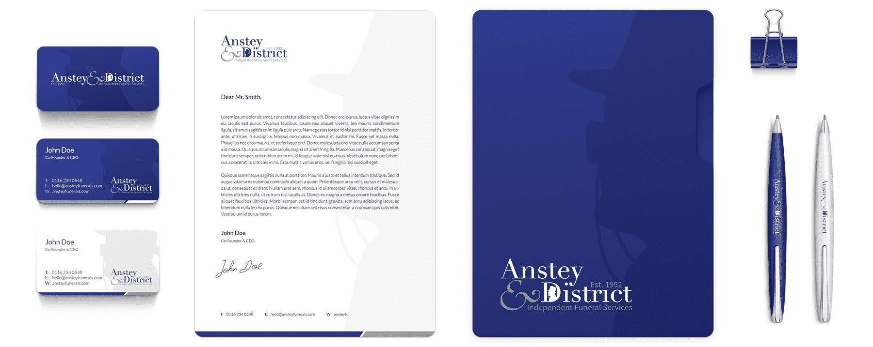 Anstey & District Funeral Services Brand Design