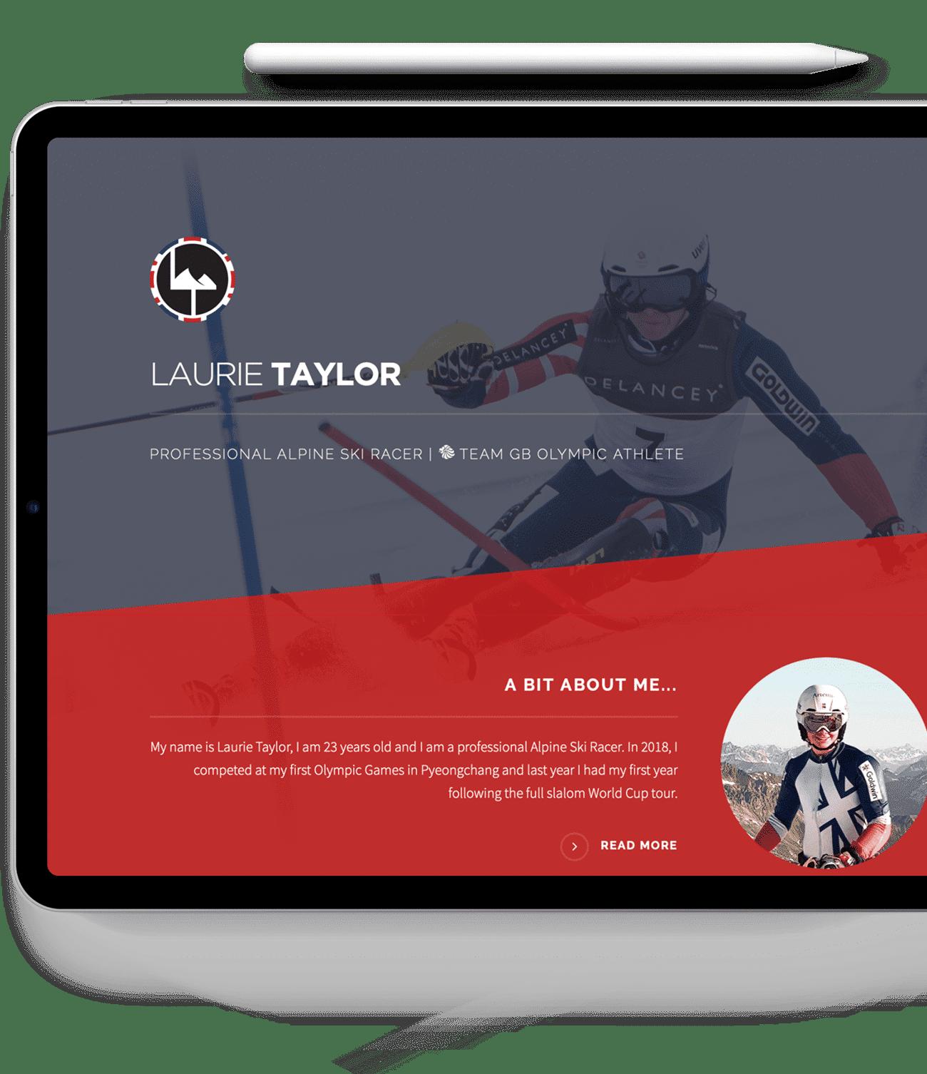 Laurie Taylor Website Design