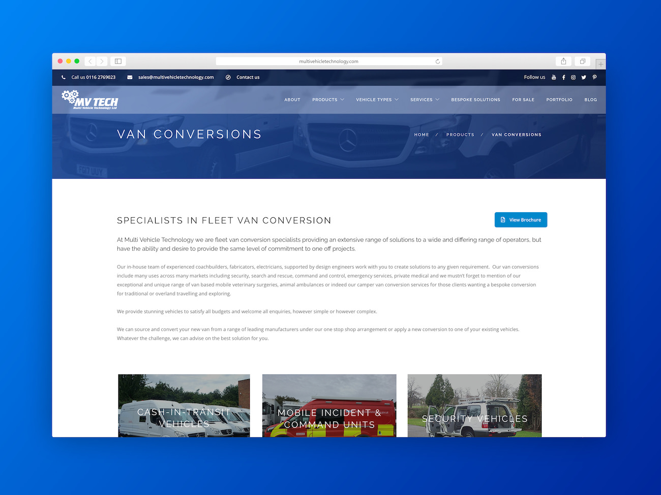 Multi Vehicle Technology Website
