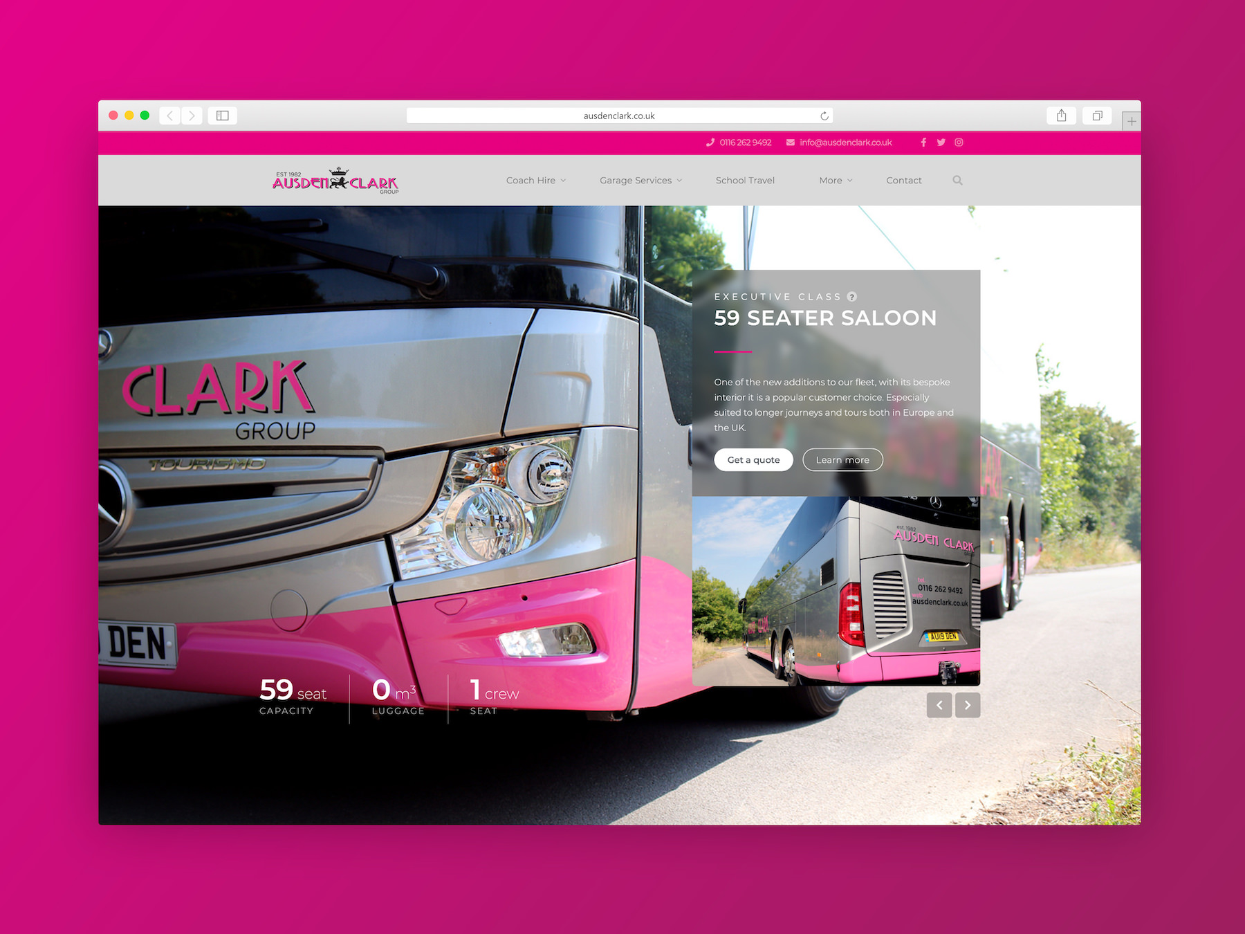 Ausden Clark Group – Website Design