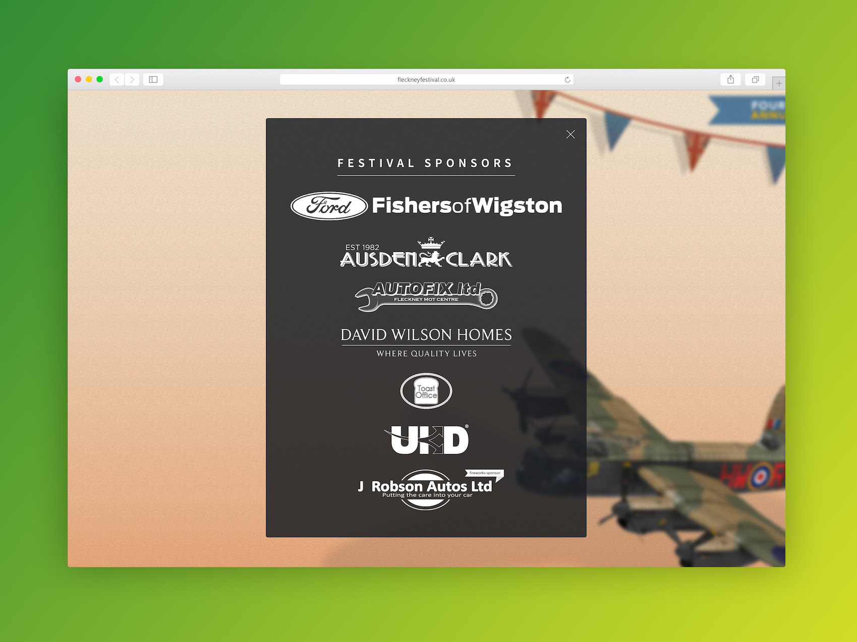 Fleckney Festival – Website Web Design