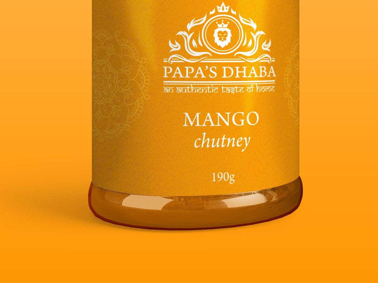 Papa's Dhaba Label Packaging Design